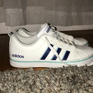 brand new adidas blue superstars